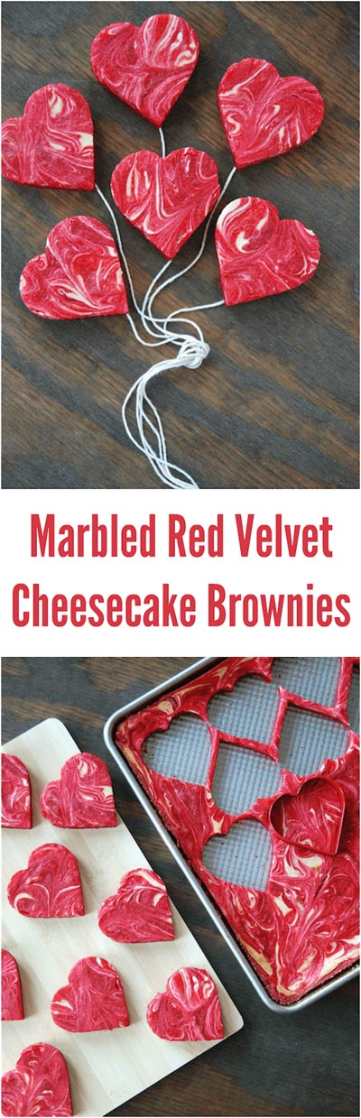 Valentines Day Treats: Marbled Red Velvet Cheesecake Brownies