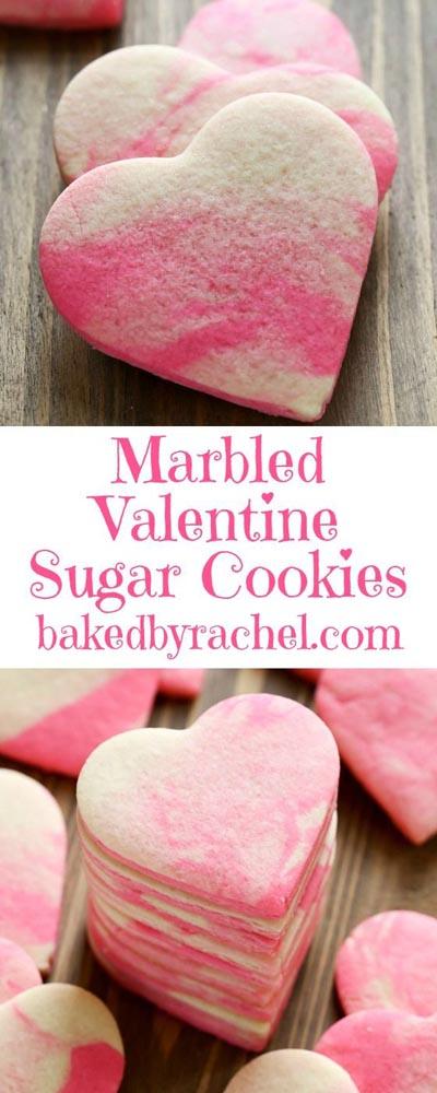 Easy Valentines Day Cookies: Marbled Valentine Sugar Cookies