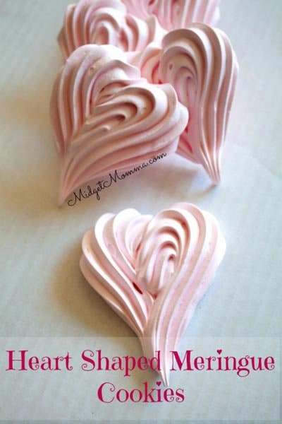 Easy Valentines Day Cookies: Meringue Cookies