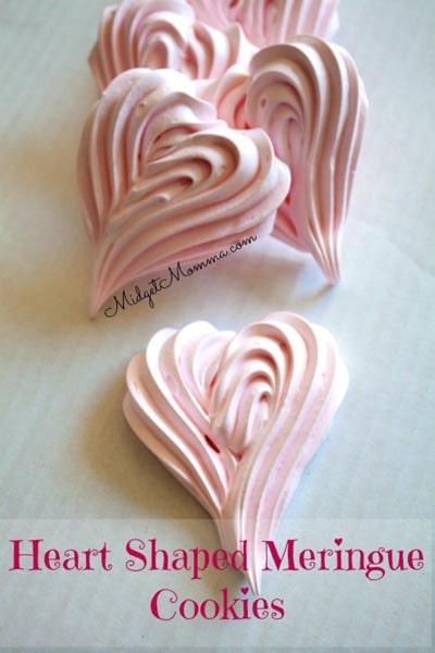 Easy Valentines Day Cookies: Meringue Cookies