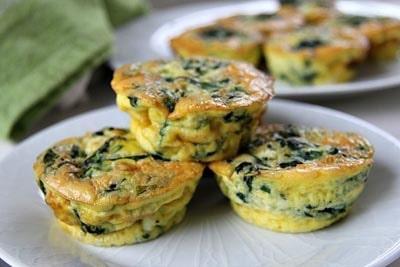 Healthy Super Bowl Snacks: Mini Spinach Feta Quiche