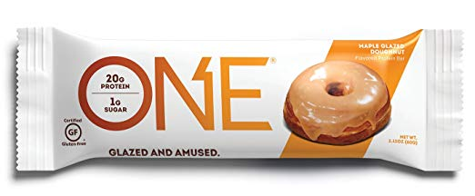 Keto Desserts You Can Buy: ONE Protein Bar Maple Glazed Doughnut