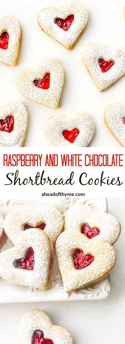 Easy Valentines Day Cookies: Raspberry And White Chocolate Shortbread Cookies