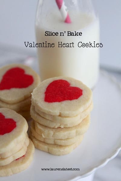 Valentines Day Treats: Slice N Bake Valentine Heart Cookies