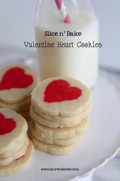 Valentines Day Treats: Slice N Bake Valentine Heart Cookies