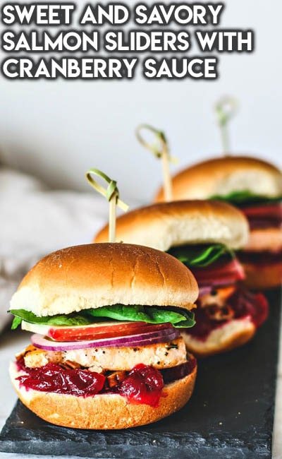 Healthy Super Bowl Snacks: Sweet and Savory Salmon Sliders With Cranberry Sauce