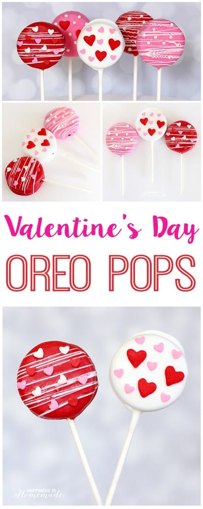 Valentines Day Treats: Valentine's Day Oreo Pops