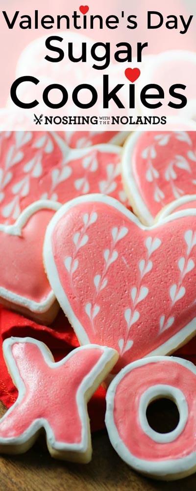 Easy Valentines Day Cookies: Valentine's Day Sugar Cookies