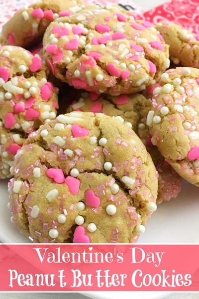 Easy Valentines Day Cookies: Valentine's Peanut Butter Cookies