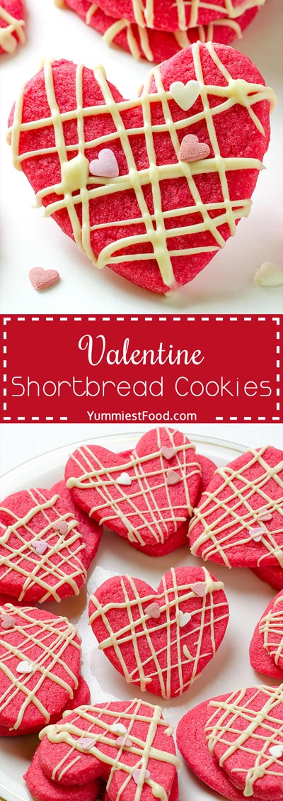 Easy Valentines Day Cookies: Valentine Shortbread Cookies