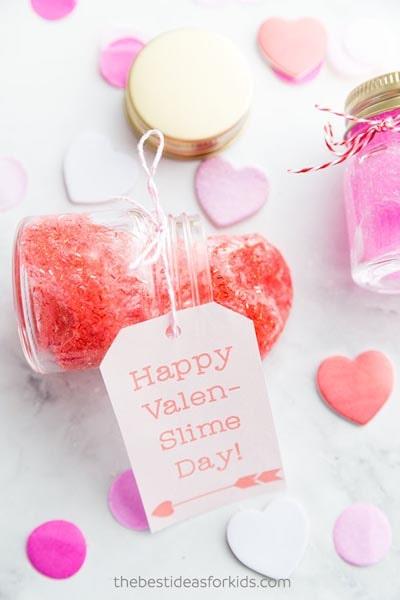 Valentines Day Mason Jar Gifts: Valentine Slime