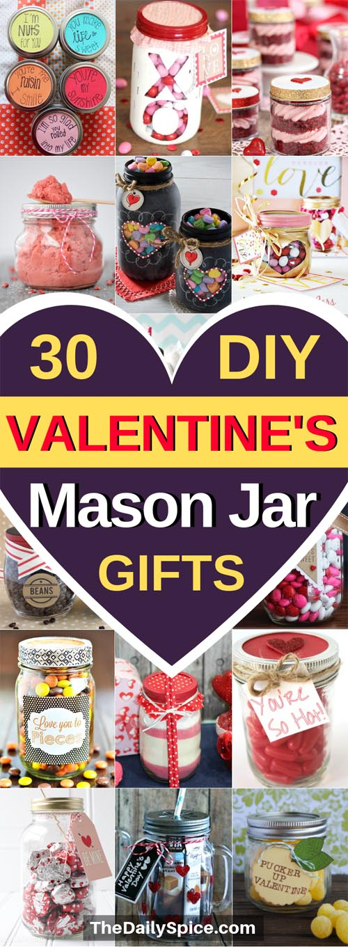 30 Diy Valentines Day Mason Jar Gifts Anyone Ll Love The Daily Spice