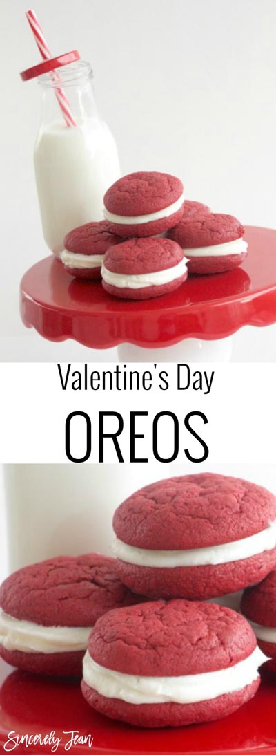 Easy Valentines Day Cookies: Valentines Day Oreos