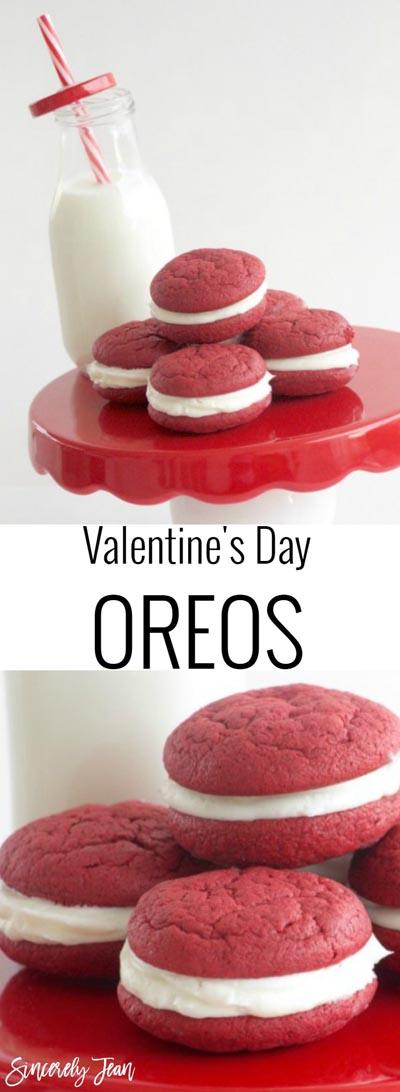 Easy Valentines Day Cookies: Valentines Day Oreos