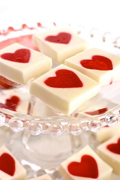 Valentines Day Treats: Valentines Jello Hearts