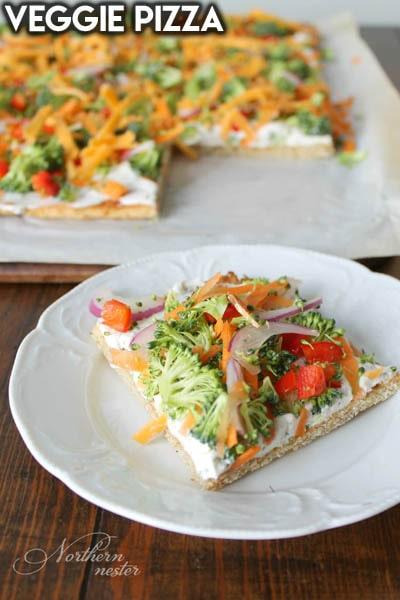Healthy Super Bowl Snacks: Veggie Pizza