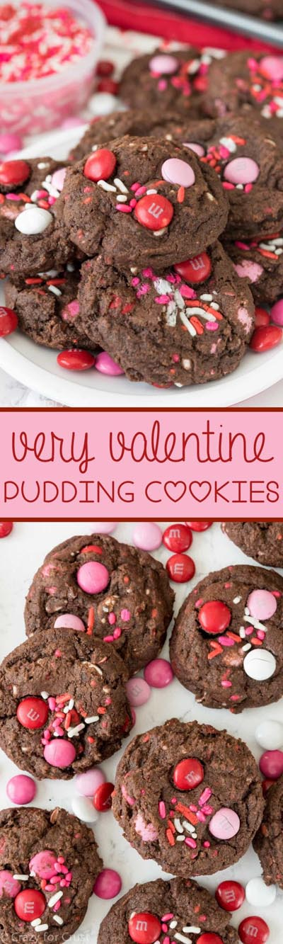Easy Valentines Day Cookies: Very Valentine Pudding Cookies