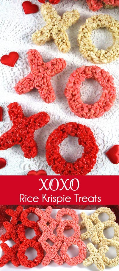 Valentines Day Treats: Xoxo Rice Krispie Treats