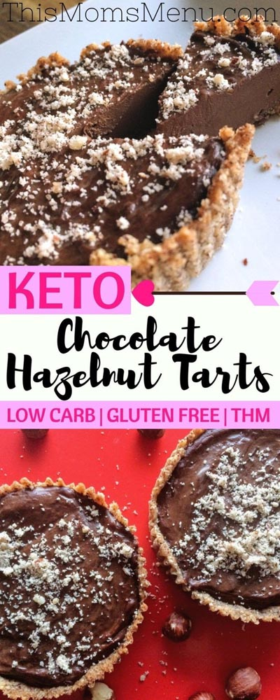 Keto Valentines Dessert Recipes & Treats: Keto Chocolate Hazelnut Tarts