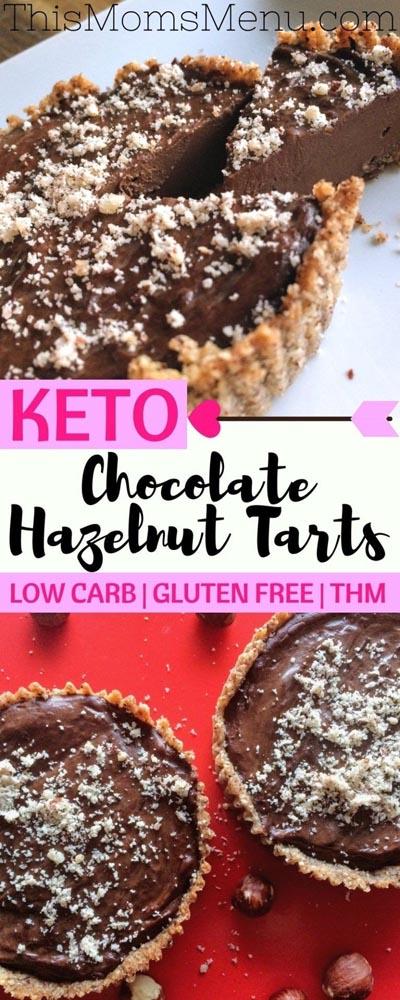 Keto Valentines Dessert Recipes & Treats: Keto Chocolate Hazelnut Tarts