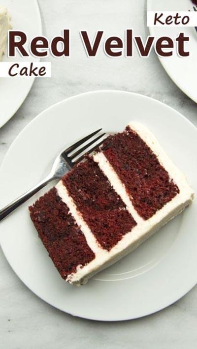 Keto Valentines Dessert Recipes & Treats: Keto Red Velvet Cake