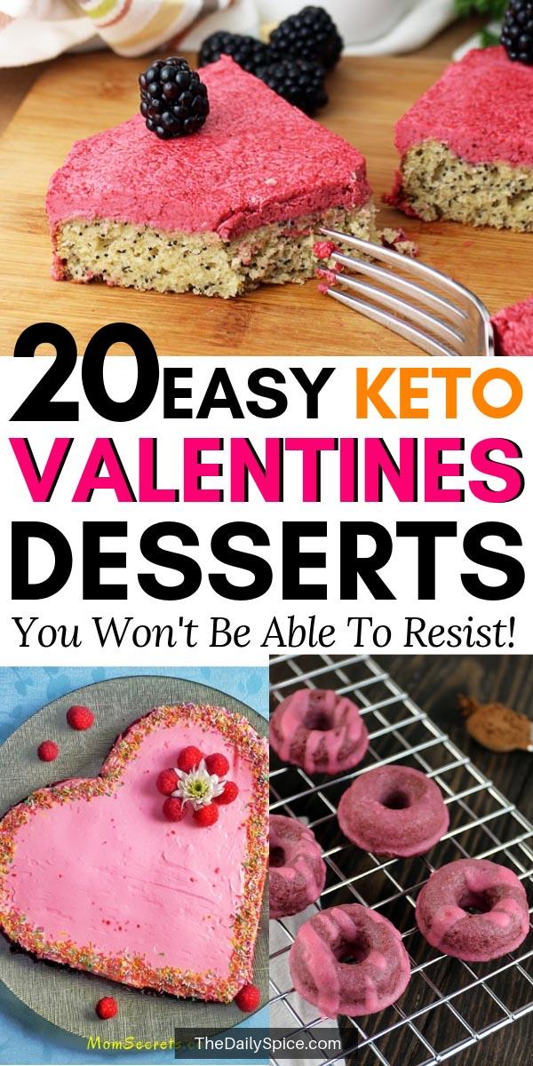 Keto Valentines Dessert Recipes & Treats