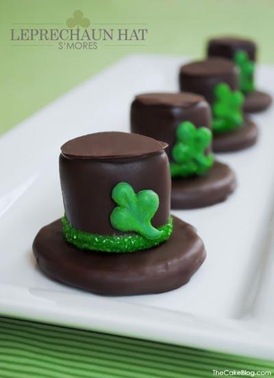 St Patrick's Day Desserts: Leprechaun Hat Smores