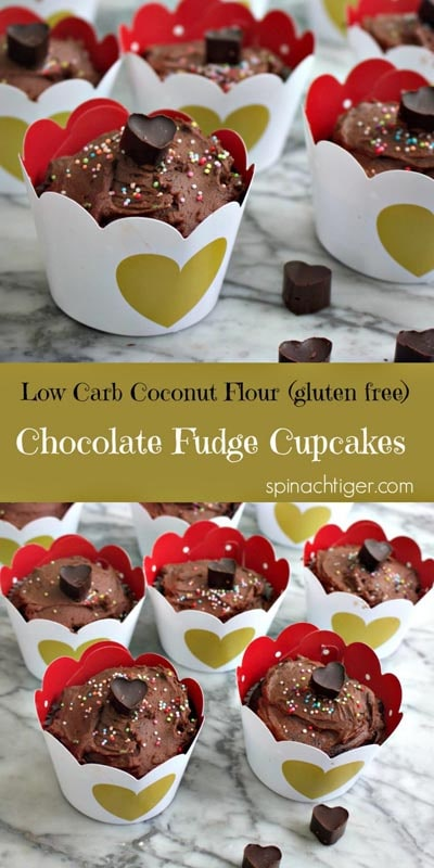 Keto Valentines Dessert Recipes & Treats: Low Carb Chocolate Cupcake Recipe