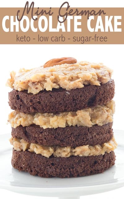 Keto Valentines Dessert Recipes & Treats: Mini German Chocolate Cake