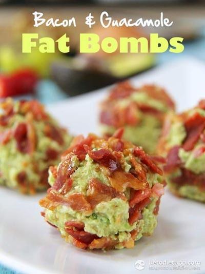 Keto Fat Bombs: Bacon & Guacamole Fat Bombs