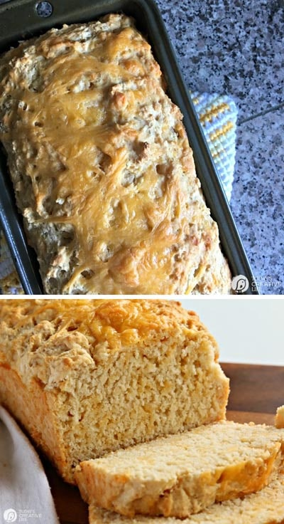 Homemade Baked Bread Recipes: Beer Bread Recipe with Garlic and Cheese