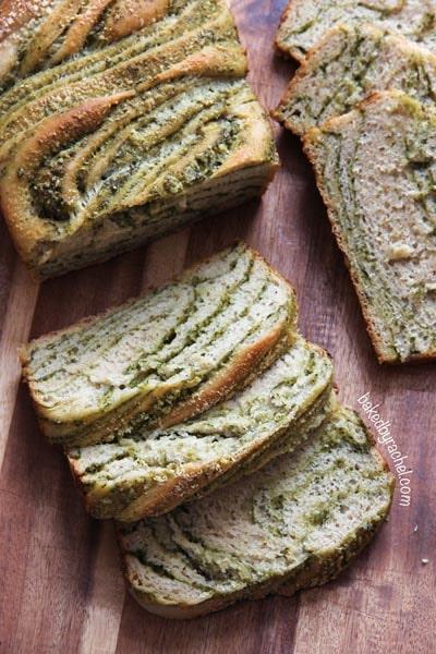 Homemade Baked Bread Recipes: Braided Pesto Bread