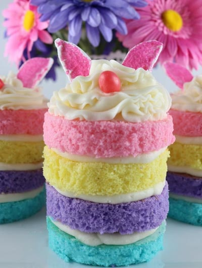 Easter desserts and treats: Bunny Mini Cakes