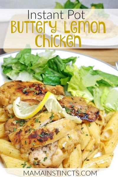 Chicken Instant Pot Recipes: Buttery Lemon Chicken