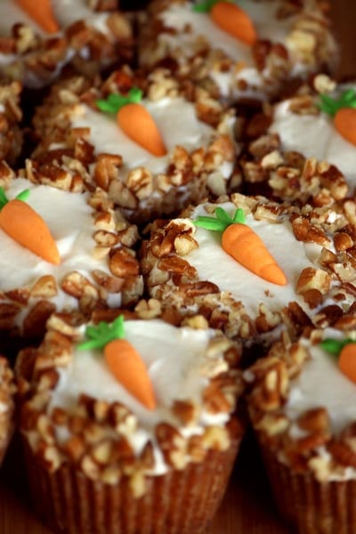 Easter Cupcake Ideas: Carrot Cake Cupcake