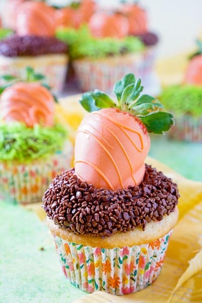 Easter desserts and treats: Carrot Patch Cupcakes