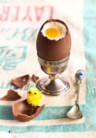 Easter desserts and treats: Cheesecake Filled Chocolate Easter Eggs