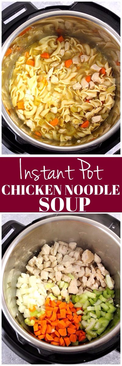 Chicken Instant Pot Recipes: Chicken Noodle Soup