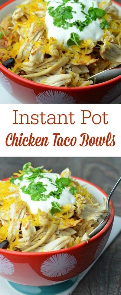 Chicken Instant Pot Recipes: Chicken Taco Bowls