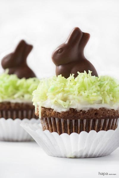 Easter Cupcake Ideas: Chocolate Bunny Cupcakes