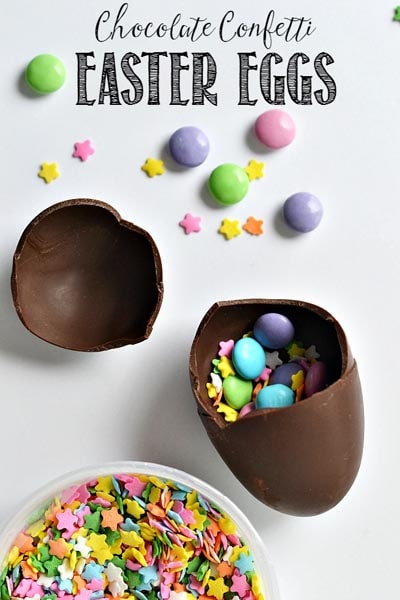 Easter desserts and treats: Chocolate Confetti Easter Eggs