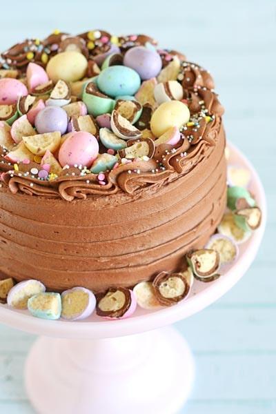 Easter desserts and treats: Chocolate Malt Cake