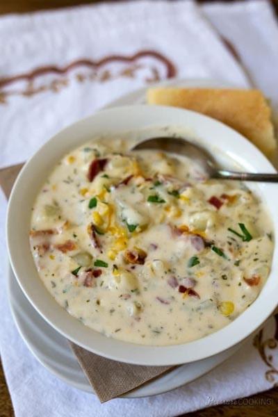 Instant pot soup recipes: Chunky Potato Cheese Soup
