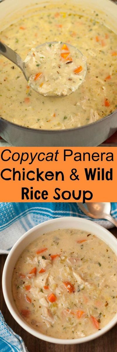 Chicken Instant Pot Recipes: Copycat Panera Chicken & Wild Rice Soup