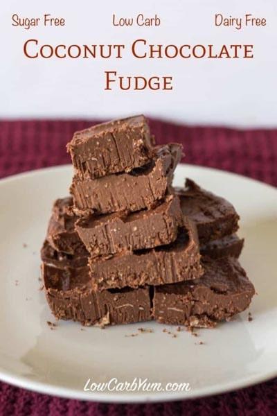 Keto Fat Bombs: Dairy Free Coconut Chocolate Fudge