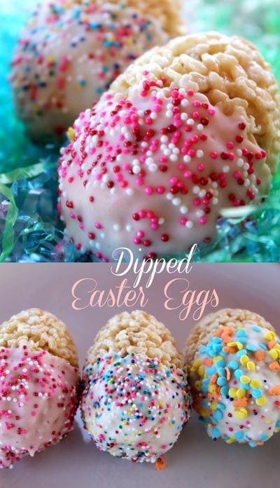 Easter desserts and treats: Dipped Easter Egg Treats