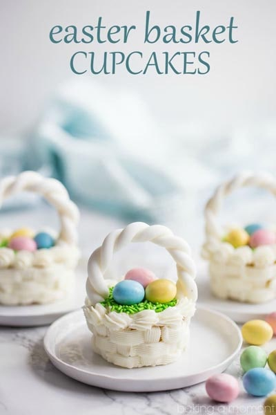 Easter Cupcake Ideas: Easter Basket Cupcakes