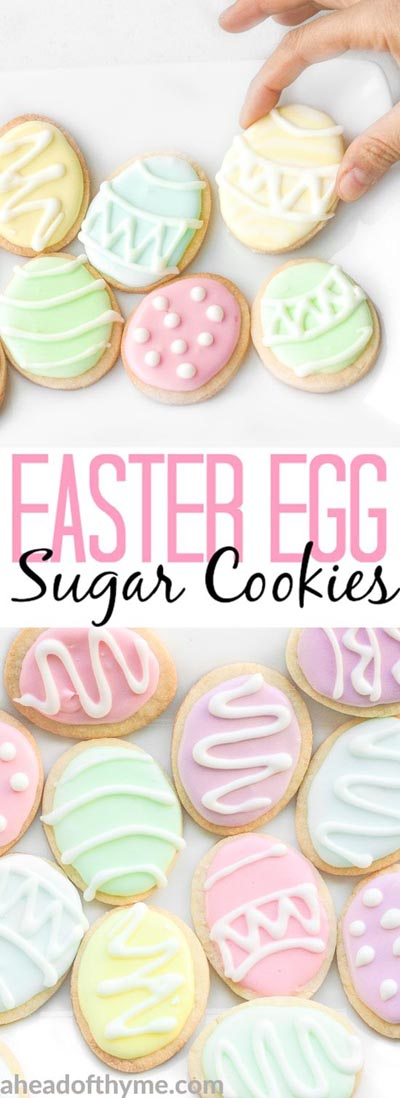 Easter desserts and treats: Easter Egg Sugar Cookies