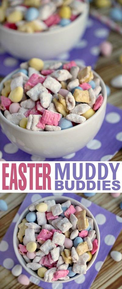 Easter desserts and treats: Easter Muddy Buddies
