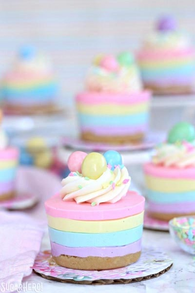 Easter desserts and treats: Easter No-bake Mini Cheesecakes